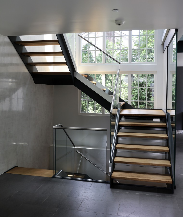 funktionalit t und design von treppenmaterialien. Black Bedroom Furniture Sets. Home Design Ideas
